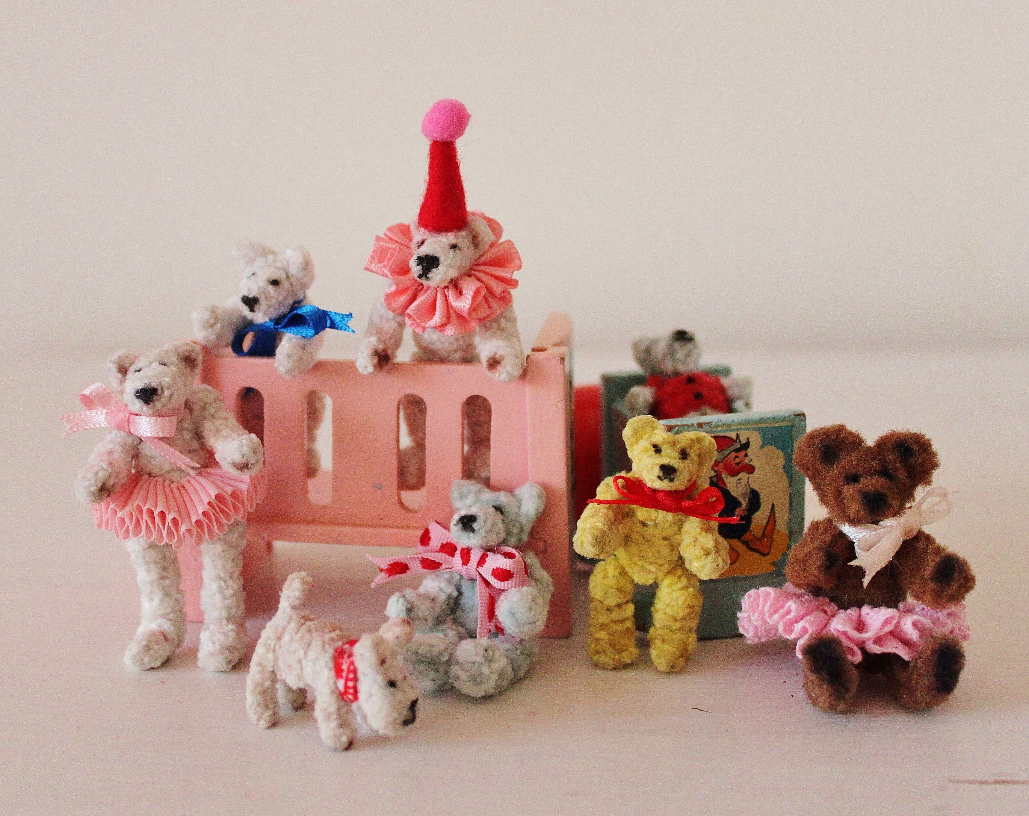 miniature pipe cleaner bears pipe cleaner animals