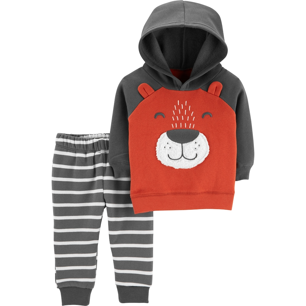Fleece Pull Over Sweatshirt for Boys Girls Kids Youth Bear Unisex Toddler Hoodies