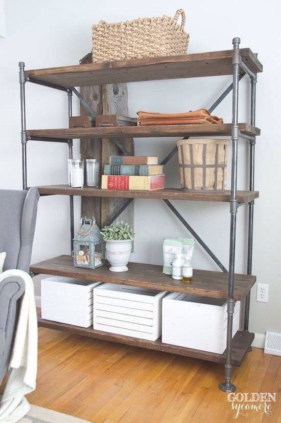 Pin By Jane Case On Building Shelving Industrial Pipe Shelves