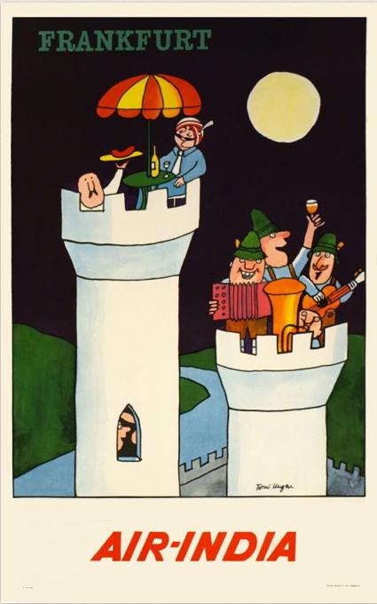 Frankfurt - Vintage Air India Poster #india