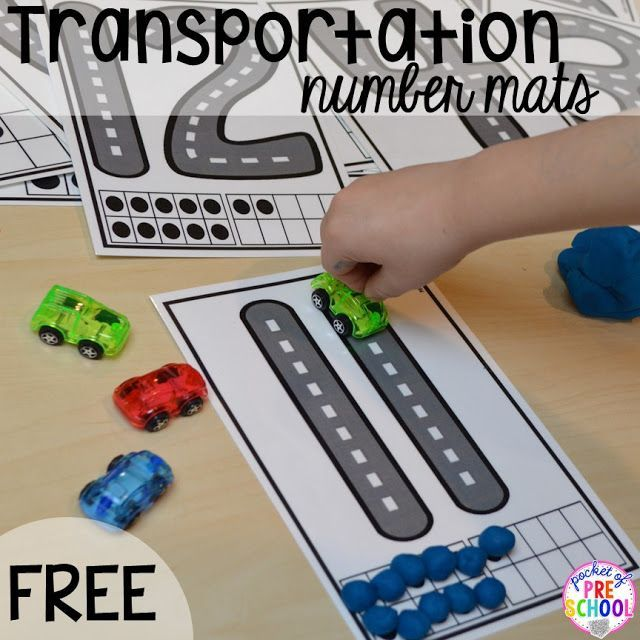 Play Mats For Cars And Trains >> Transportation Centers and Activities (Road Number Mat Freebie too | Math writing ...