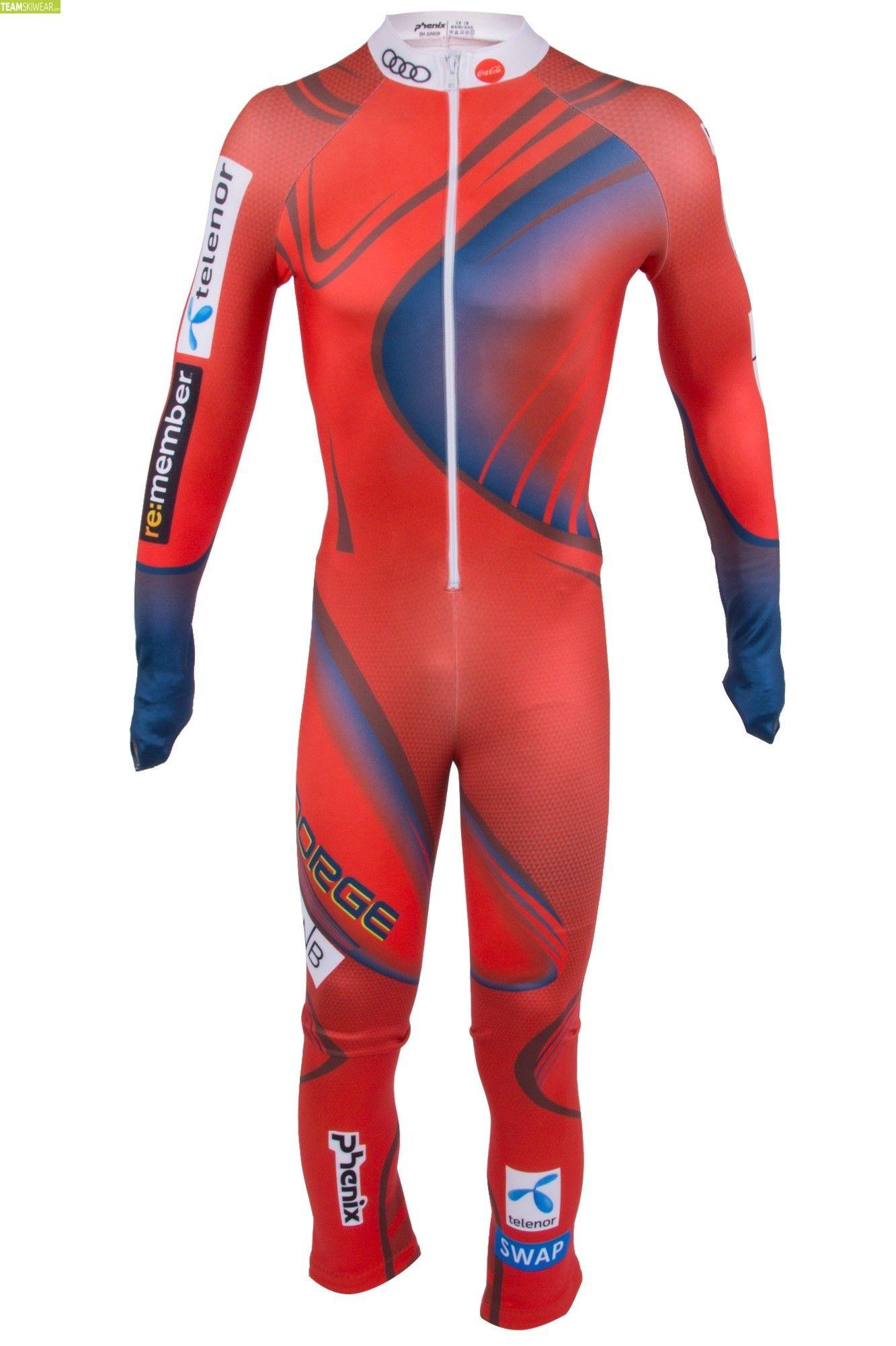 Phenix Junior Norway Alpine Team DH Race Suit Red