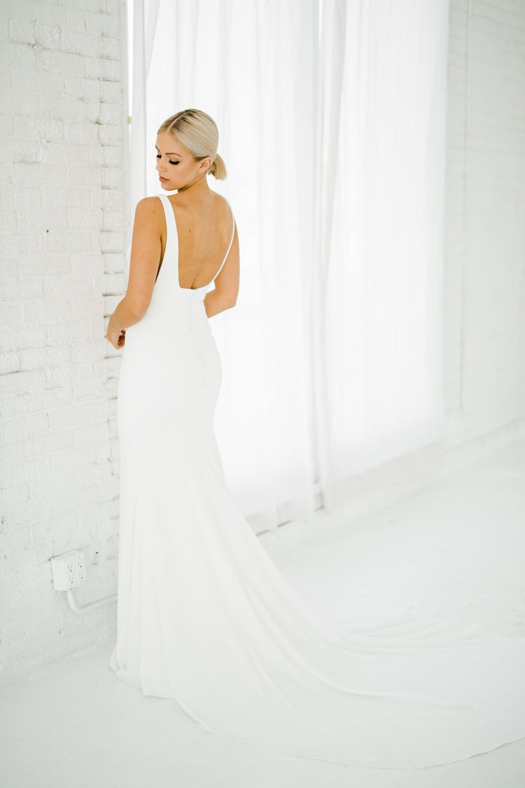 Alyssa Kristin Minimal Wedding Dress Wedding Dresses Chicago Wedding Dress Store