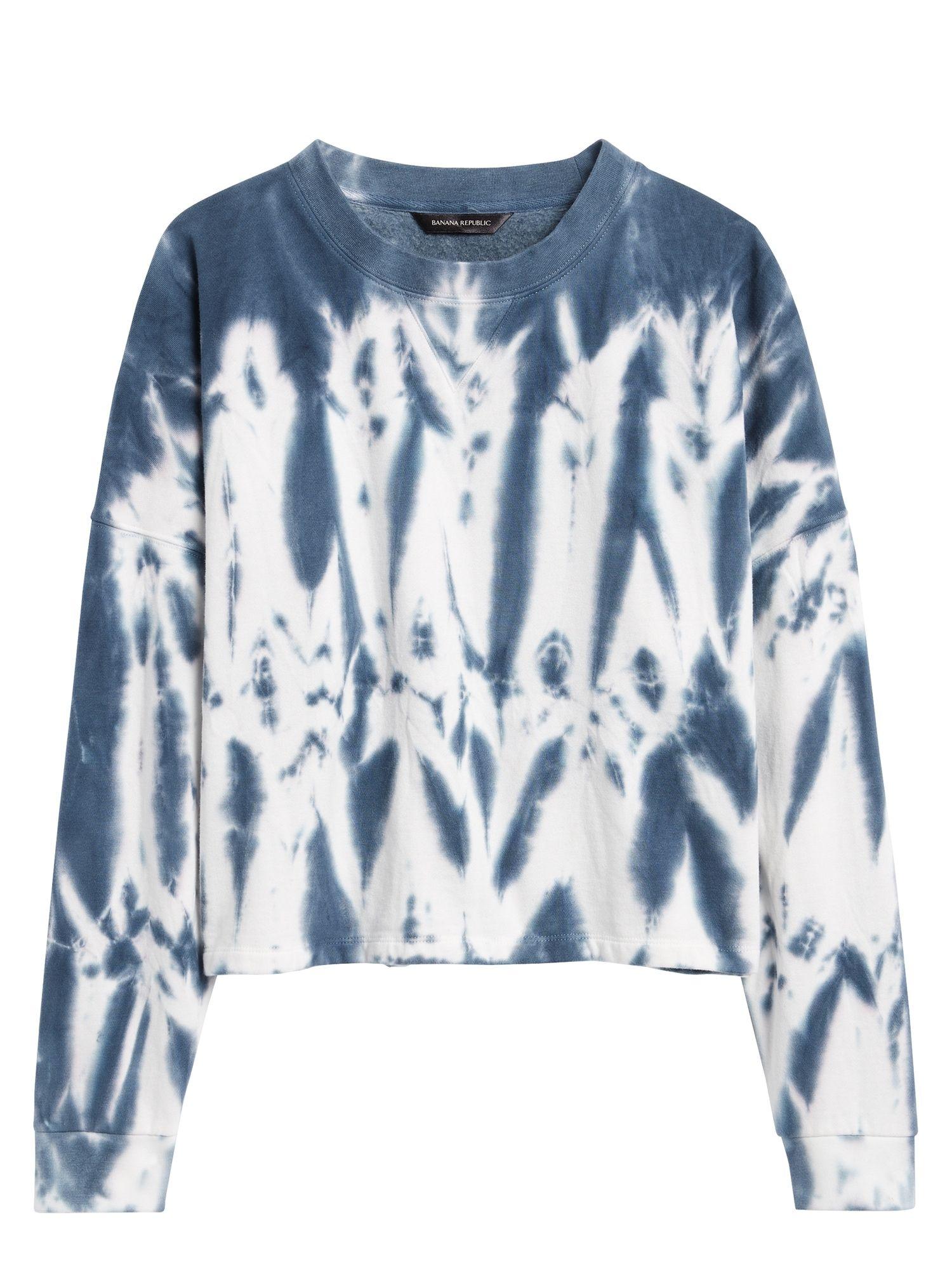 Cropped Tie Dye Sweatshirt Banana Republic Tie Dye Sweatshirt Sweatshirts Tie Dye Fashion [ 2000 x 1500 Pixel ]