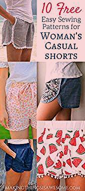10 Free Womans Casual Shorts Sewing Patterns Roundup  Making Things is Awesome 10 Free Womans Casual Shorts Sewing Patterns Roundup  Making Things is Awesome This image h...