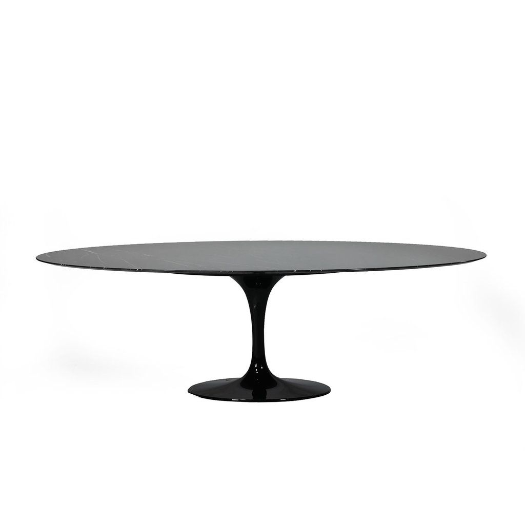 Nero Marquina Marble Tulip Dining Table 96 Oval Dining Table Tulip Dining Table Nero Marquina Marble