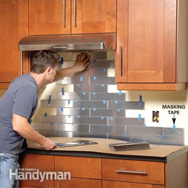 Attractive Do It Yourself Kitchen Backsplash Ideas Part - 3: Top 10 DIY Kitchen Backsplash Ideas --Stainless Steel, Aluminium And Copper  Tiles Are Available In Many Styles Familyhandyman Step By Step Guide.