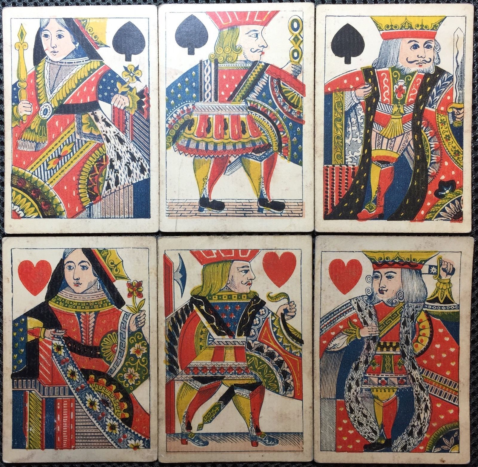 C1845 historic poker playing cards faro wild west style