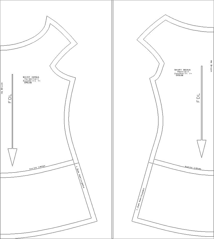 Schnittmuster Shirt Genua- www.schnittquelle.de - einfache ...