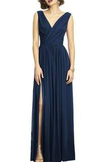 5eee7a9f0d Dessy Collection Ruffle Back Chiffon Gown