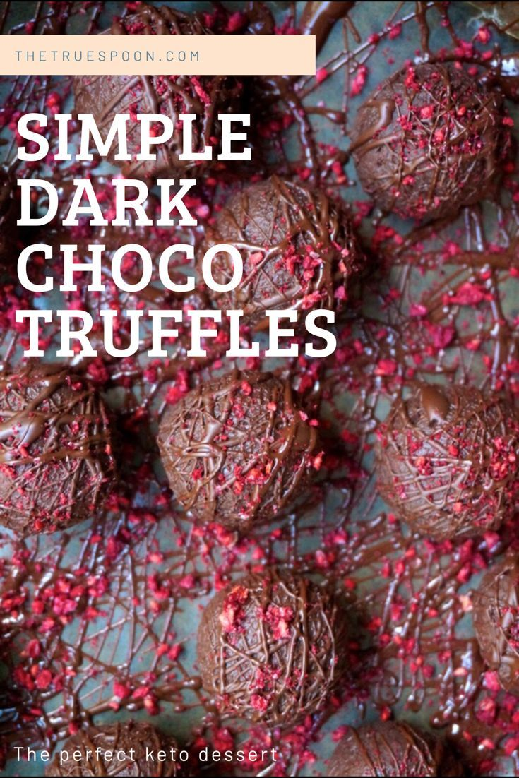 Simple Dark Chocolate Truffles – Wellness Lifestyle and Healthy Recipes