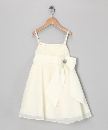 {Ivory Bow Party Dress - Girls by Donita} Beautiful!