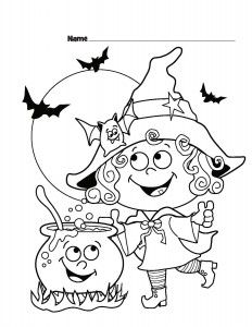 Halloween Witch Printable coloring pages | Színező ...