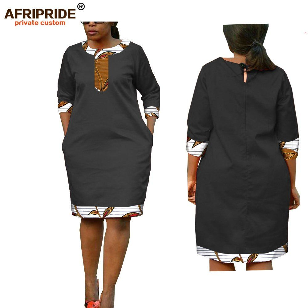 2019 Mulheres Verão Vestido Estampado Africano Batik