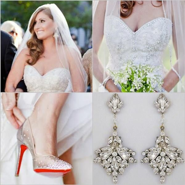 One Of Our Brides Looking Gorgeous In Her Erin Cole Chandelier Earrings Louboutin S Oh
