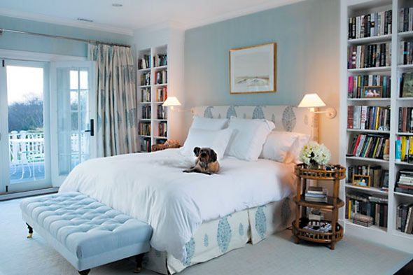 Peaceful blue bedroom katie couric   hampton home also  love this wonderful bedrooms pinterest rh