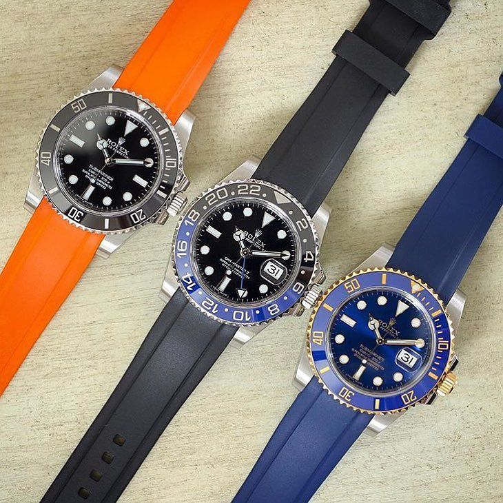 @everestbands choice  which color do you prefer? #mondani #mondaniweb  Picture by @rolexdiver - go and check @everestbands   #rolexpassion #rolexstrap #rubber #rubberbands #rolexwatch #rolexaholics #rolexwrist #rolexcollector #watchessentials #watchesofinstagram #lovewatches #menswatch #menswatches #submariner #gmtmaster #watches #uhr #uhren #horology #mensaccessories #top #picoftheday by giorgiamondani