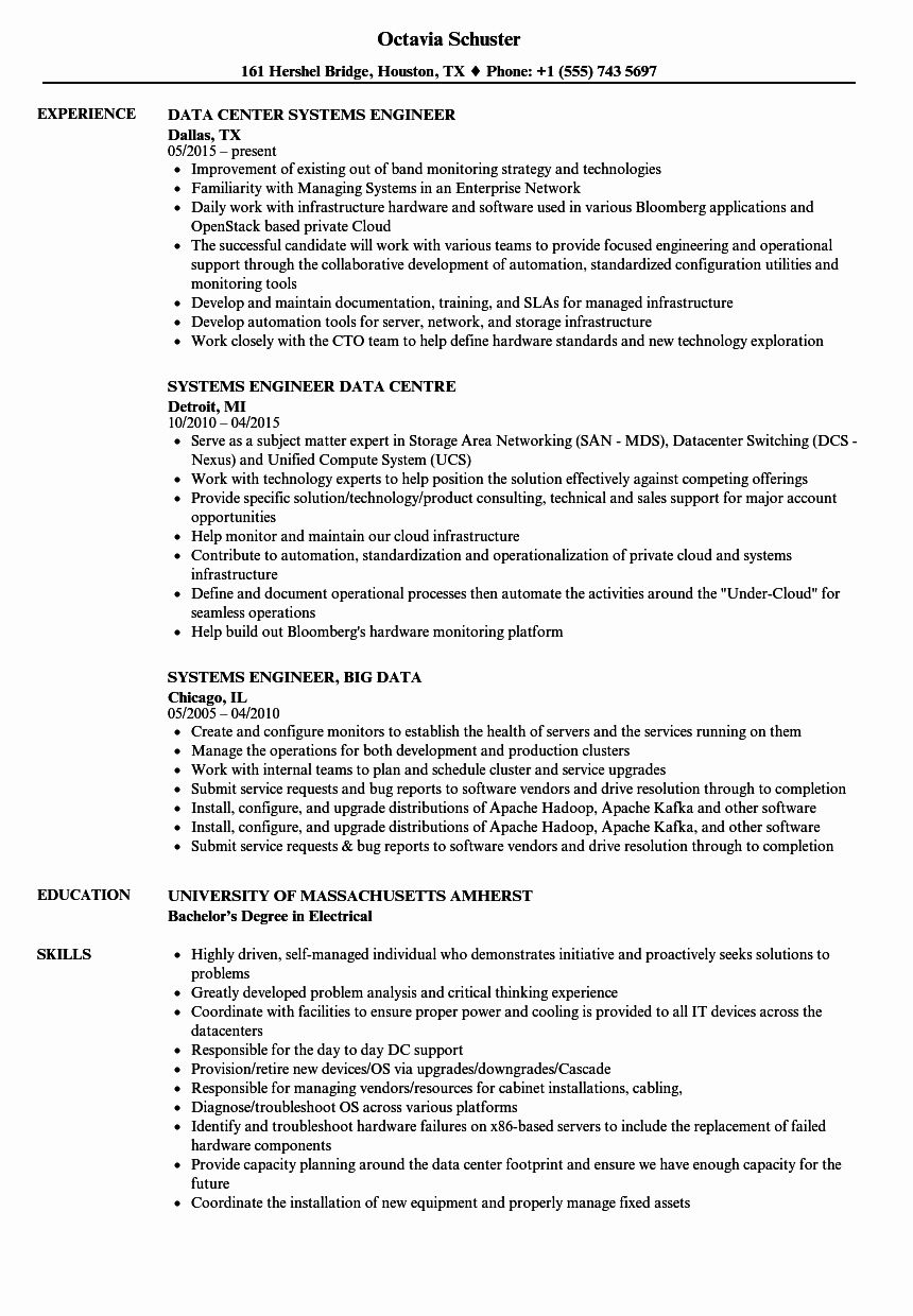 23 System Engineering Resume Examples in 2020 (With images