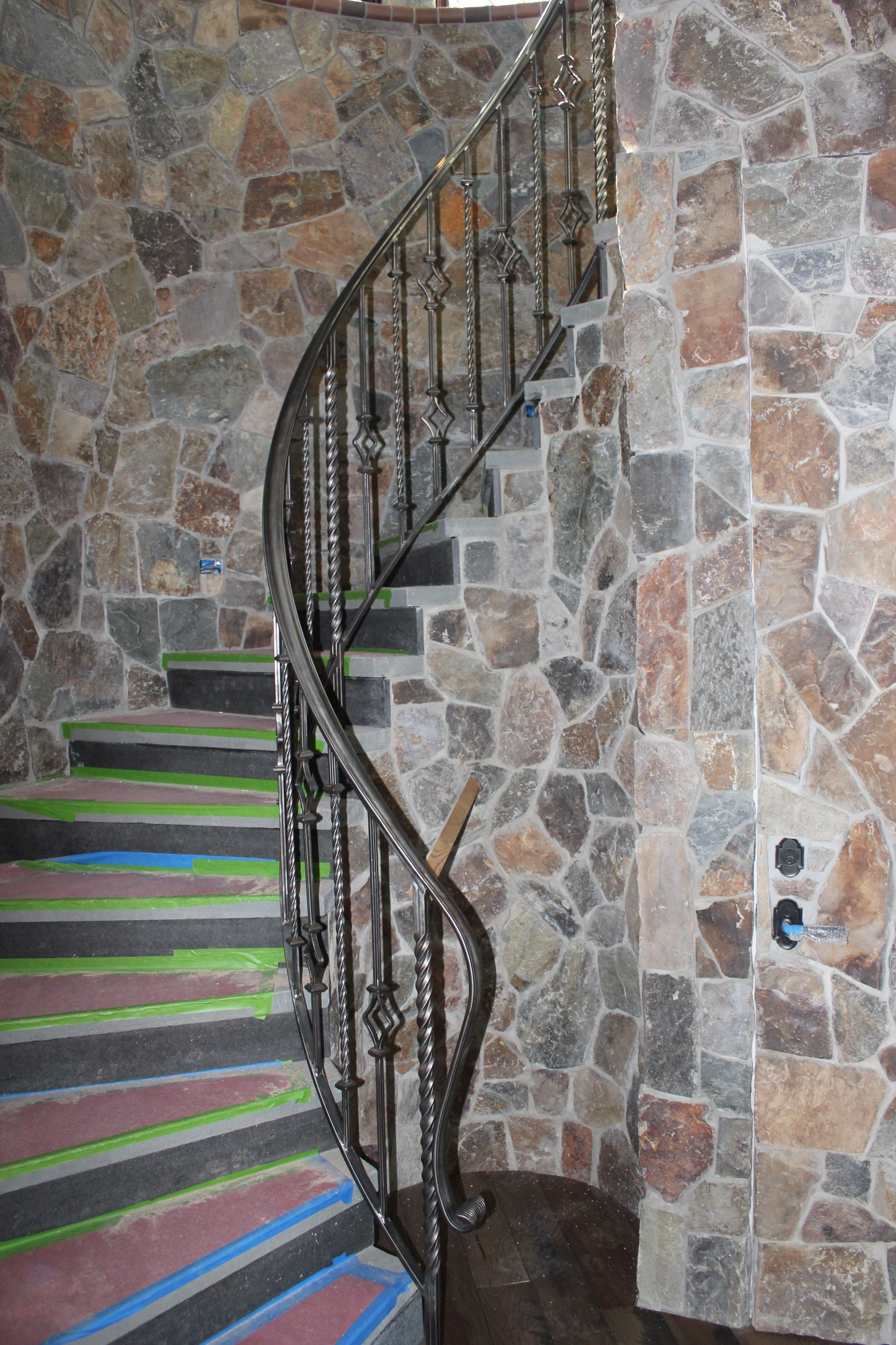 Best Custom Spiral Staircase Railing With Beeswax Finish Www 400 x 300