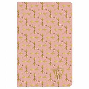 Carnet de couture textile Collection Neo Deco Printemps-Eté 9x14cm 96 pages ligné Motif Corail Ensemble papier ivoire 90g – Corail –   – Products