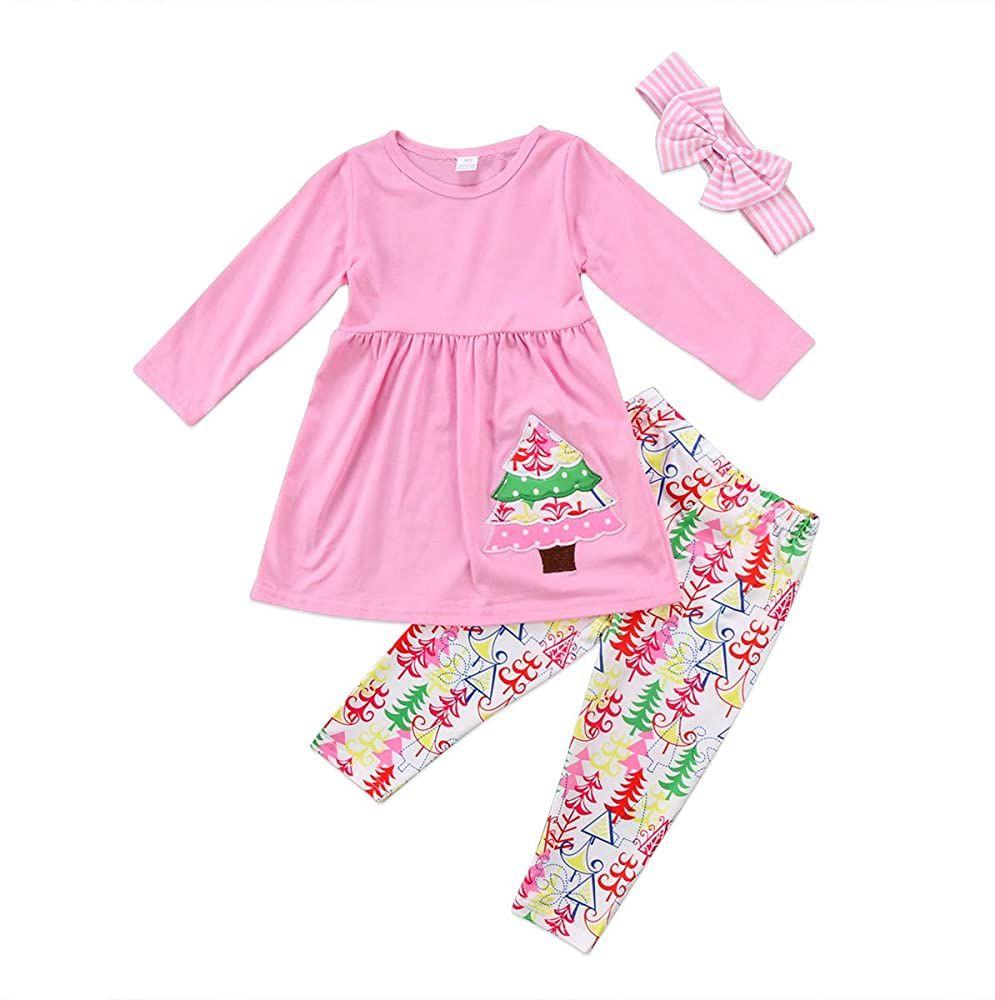 Toddler Baby Girls Clothes T-shirt Tops+Tutu Skirt Dress Outfits 2PCS Set 2-7T