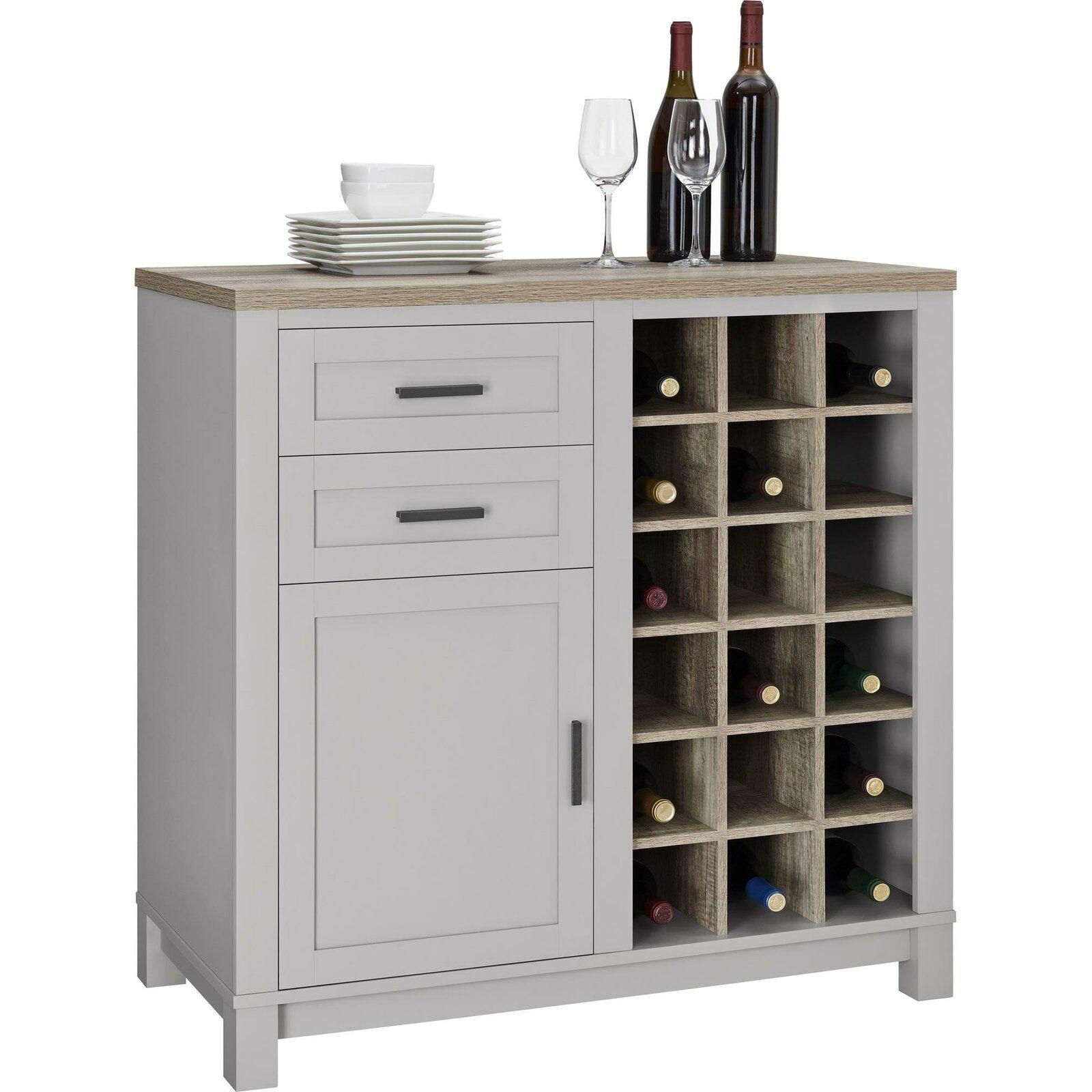 Zahara Bar Cabinet With Wine Storage Wine Cabinets Bars