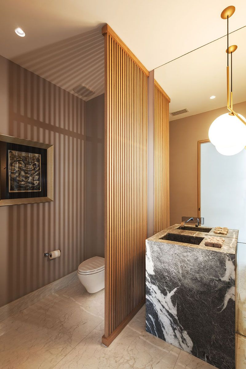 Azul Celeste Gave This Family Home A Warm And Relaxed Interior #modernpowderrooms