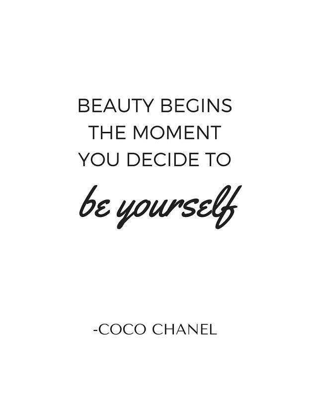 Coco Chanel Quote Printable Diy Home Decor Free 8 5 X