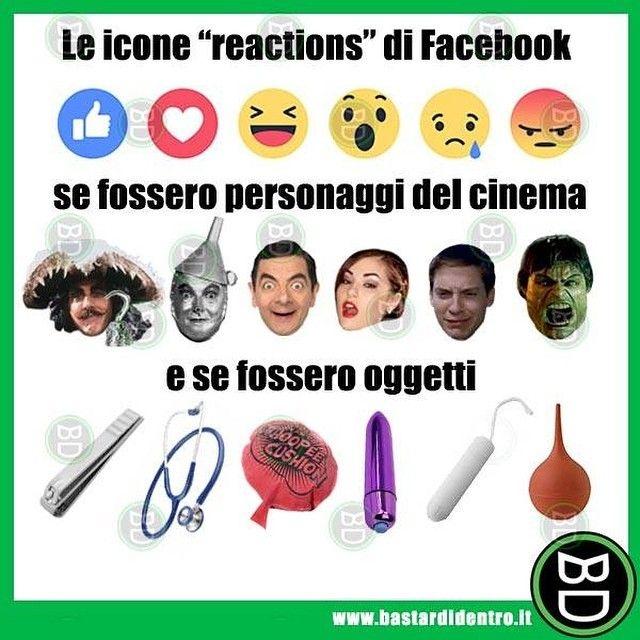 "Nuove #icone ""Reactions"" secondo #bastardidentro #social #reactions www.bastardidentro.it"