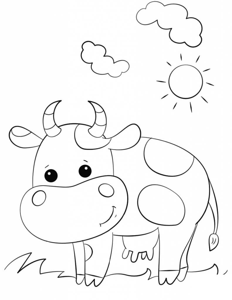 25 Best Picture Of Cow Coloring Page Davemelillo Com Cow Coloring Pages Cute Coloring Pages Cartoon Style Drawing