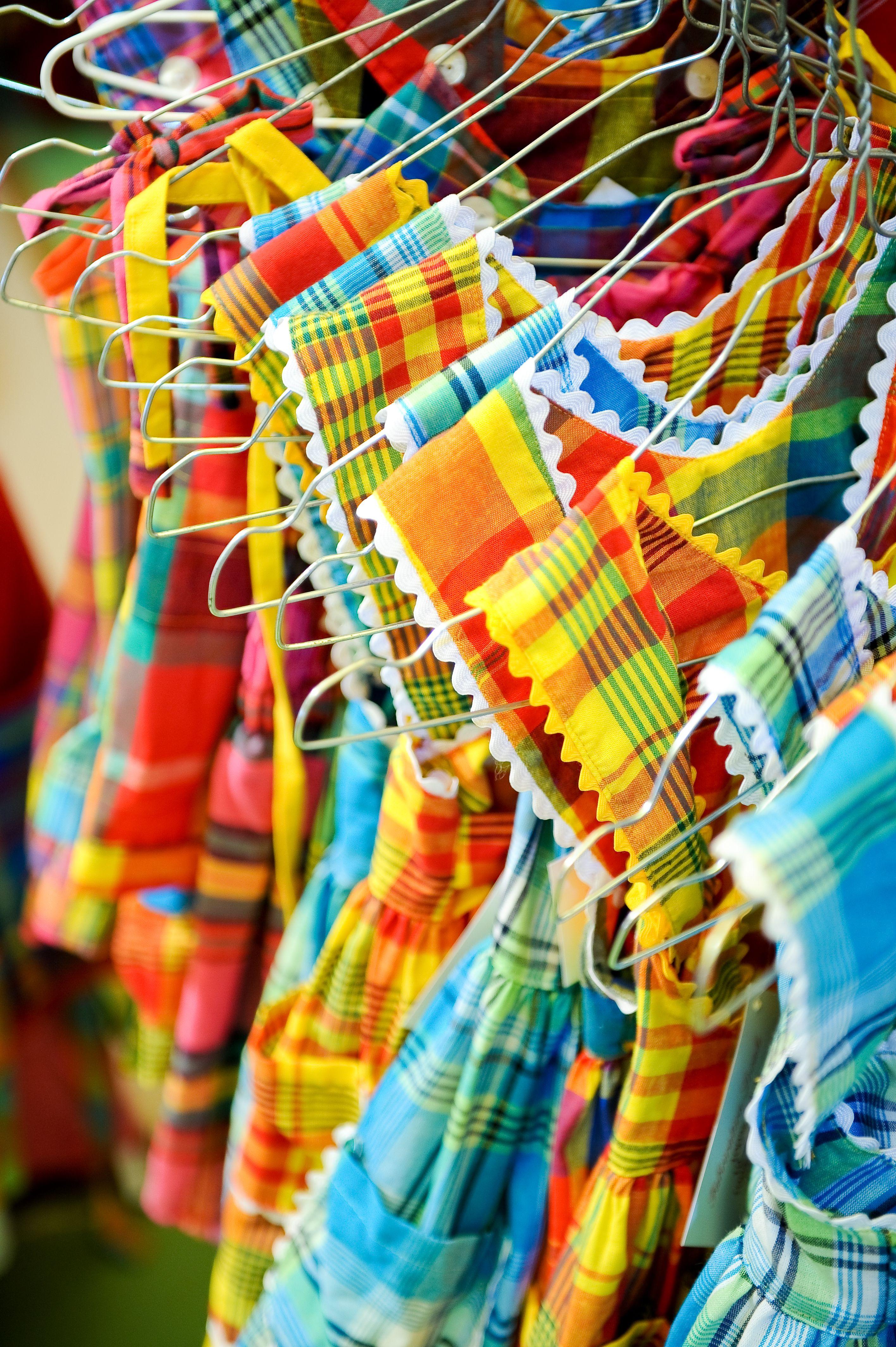 Madras Dresses Guadeloupe Martinique Îles Des Caraïbes