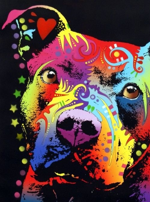 Thoughtful Pitbull Warrior Heart Poster By Dean Russo Pitbull