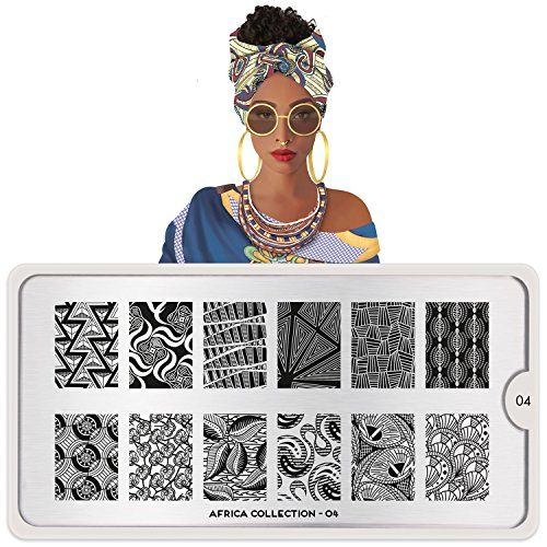 MoYouLondon Nail Art Africa Plate Collection 04 >>> Check this awesome product by going to the link at the image.(It is Amazon affiliate link) #instagramhub