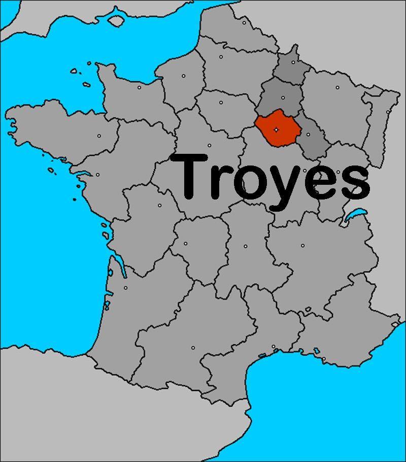 troyes france | Infos sur : carte de france troyes - Arts ...