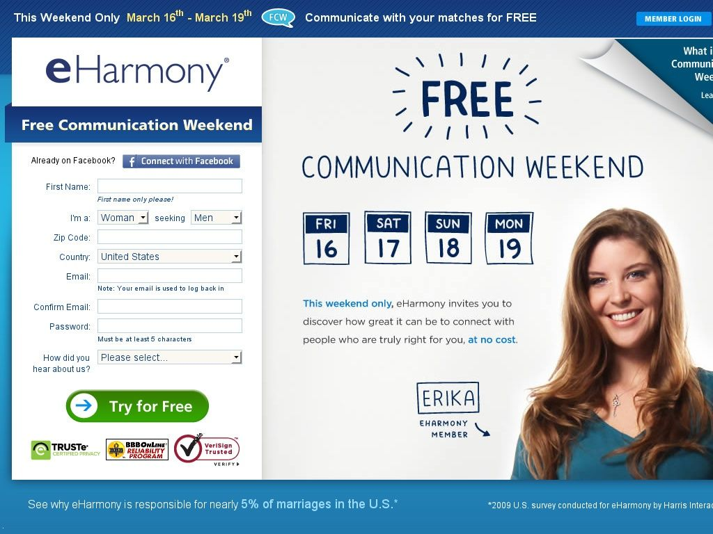 eharmony coupons free trial