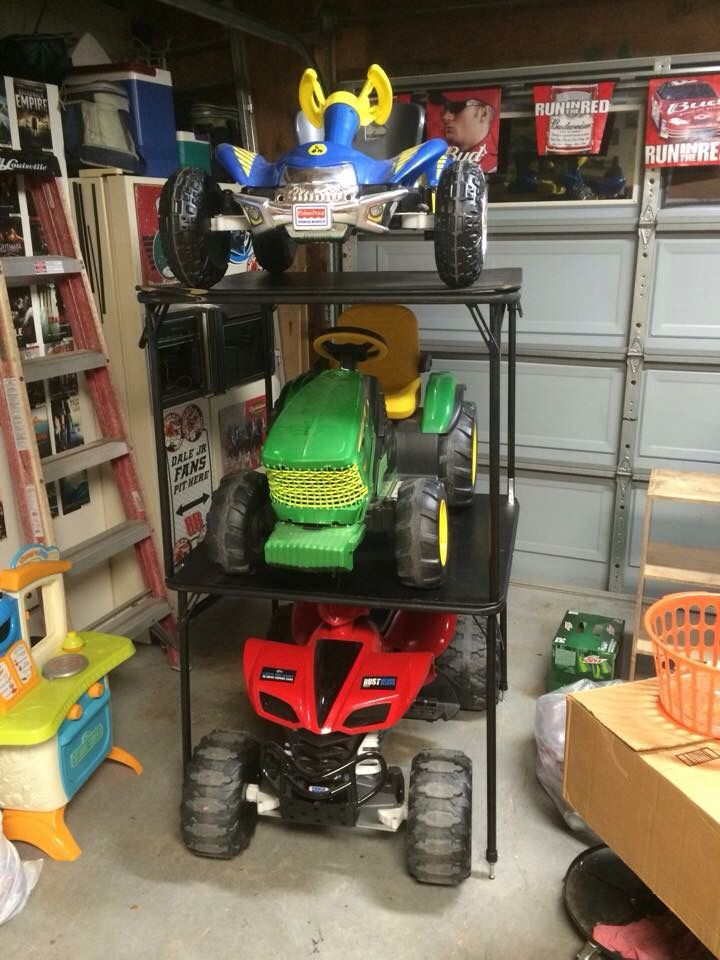 space saving garage power wheels space saving storage i got tired of the power wheels