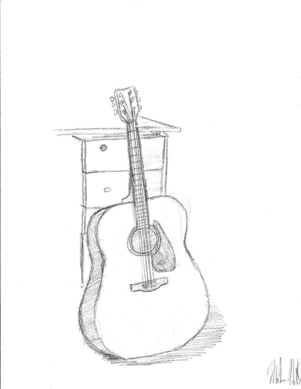 Gutiar Drawing Go Back For Guitar Drawing