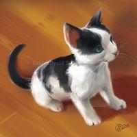Sittin' Kitten - SpeedPaint by GoldenDruid