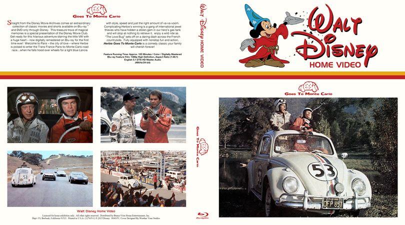 Herbie goes to monte carlo bluray custom cover disney