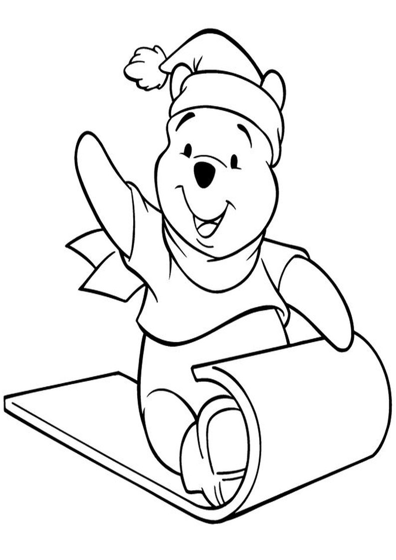 Kolorowanka Kubus Puchatek Na Sankach Malowanka Do Wydruku Nr 32 Christmas Coloring Pages Bear Coloring Pages Coloring Pages
