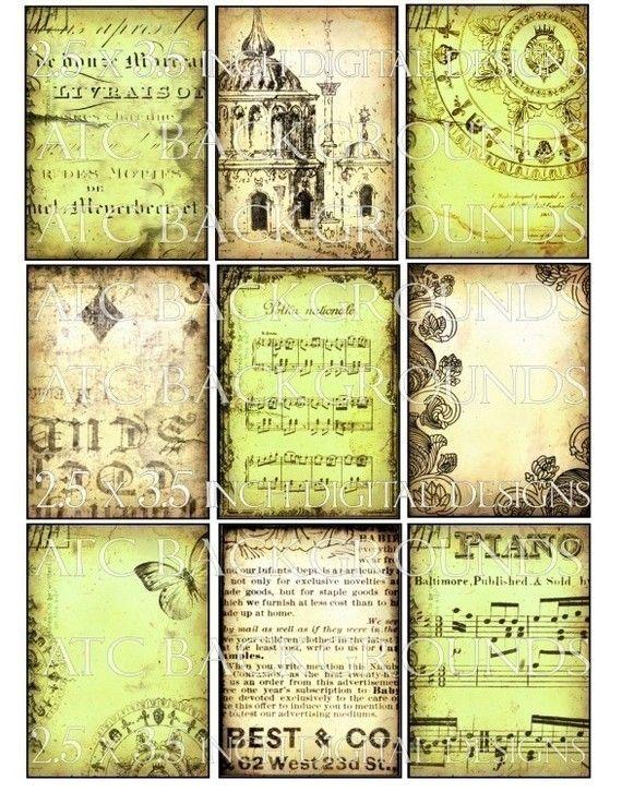 Grunge Shabby Backgrounds Digital Collage Sheet Download Instant Download Printables 1164 Digital Paper