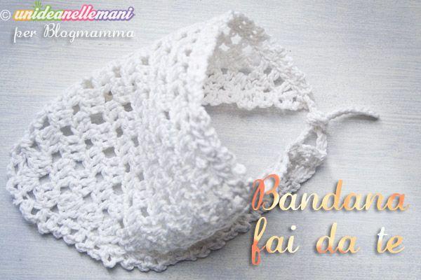 Bandana Per Neonati Fai Da Te Tutorial Foto Crochet And Knit