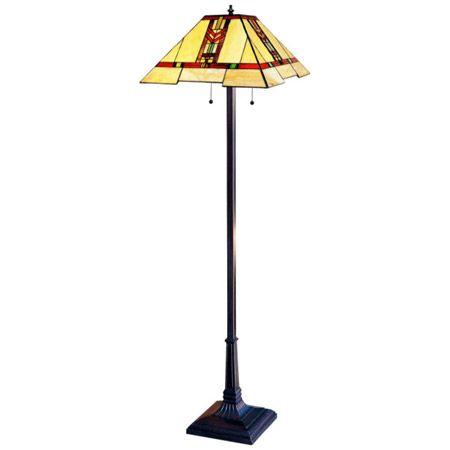 Red chevron design craftsman floor lamp.   Craftsman Floor Lamps ...