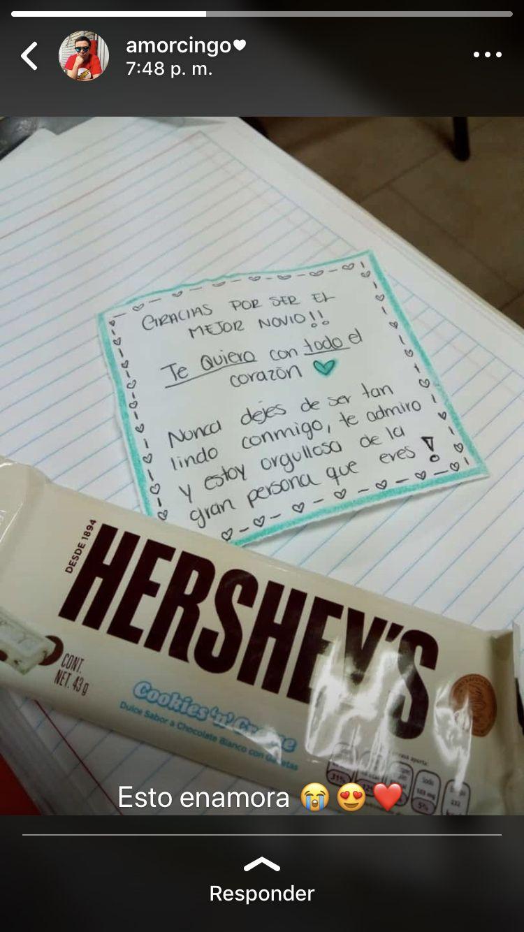 #sorpresa #regalo #chocolate #amor #frases #goals #detalles #tequiero #novios #enamorada