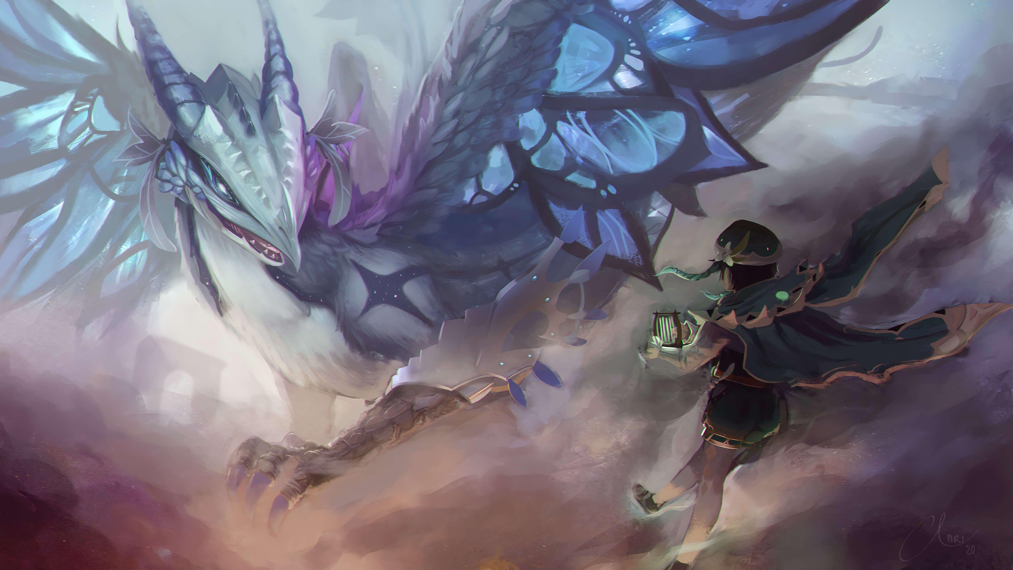 Genshin Impact Wallpaper In 2020 Anime Fantasy Wallpaper Impact