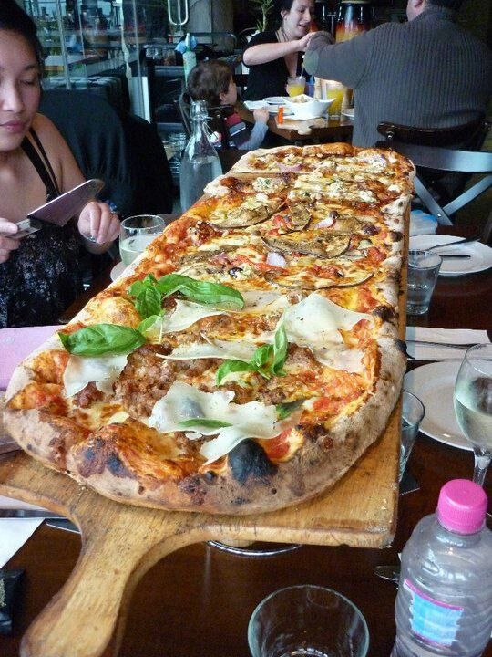 Metre Long Pizza Gourmet Pizza Food Photographing Food