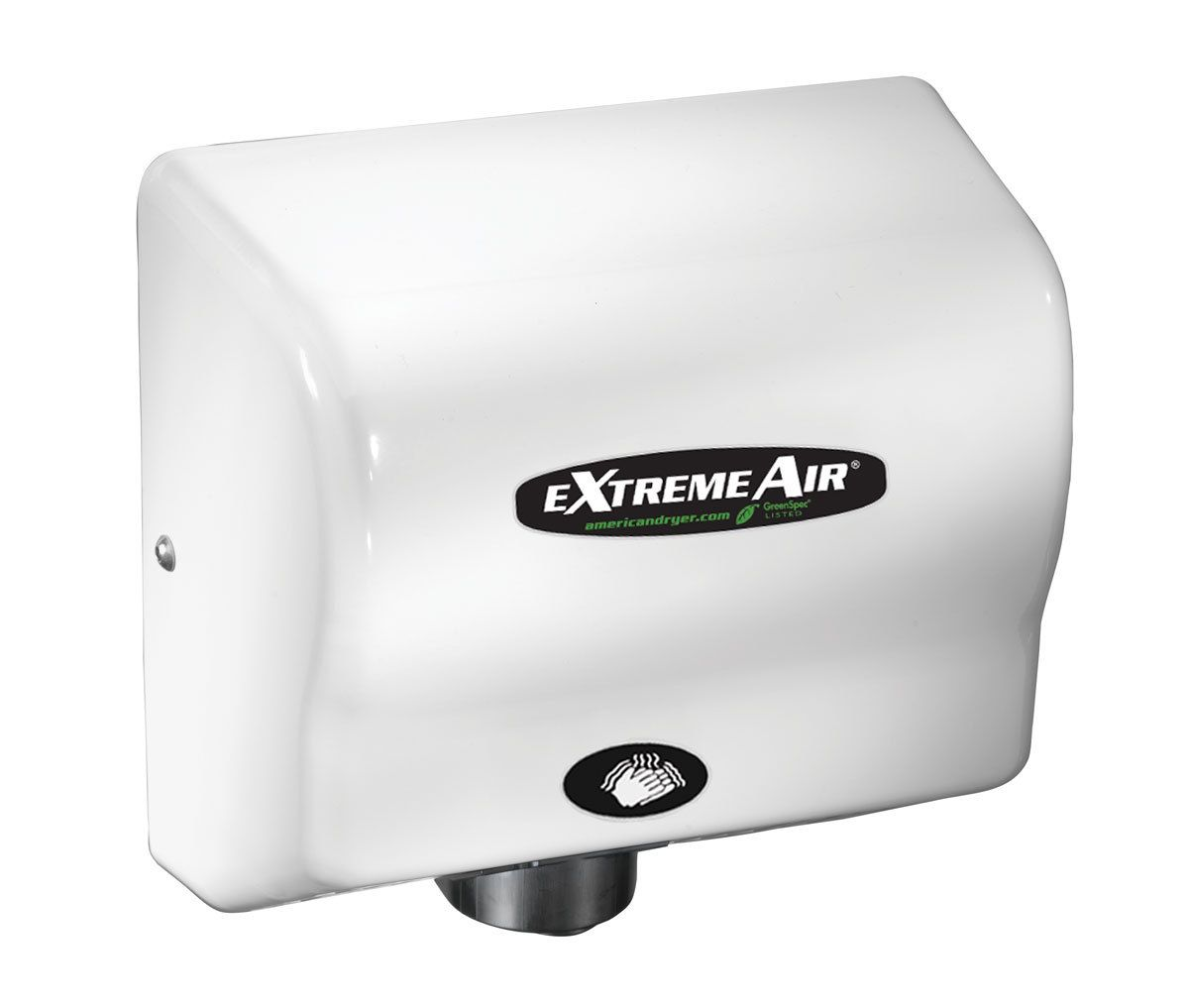 Händetrockner World Dryer American Dryer Extremeair Gxt9 Hand Dryer Heated White Abs
