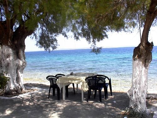 Chios Greece.There is nothing like a good meze by the water after a day in the sun!!