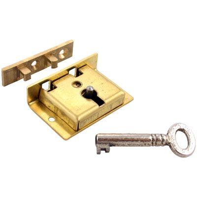Small Brass Half Mortise Chest Lock With Skeleton Key Skeleton Key Key Brass