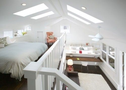 Little space, but have high ceilings?... Do a loft type bed and ...